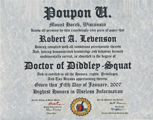 Poupon U Diploma: DDS Degree