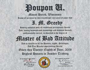 Poupon U Diploma: MBA Degree