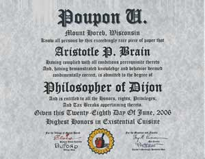 Poupon U Diploma: Ph.D Degree