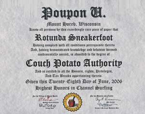 Poupon U Diploma: CPA Degree