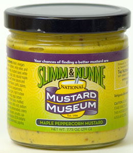 Slimm & Nunne Maple Peppercorn Mustard (7.75 Oz)