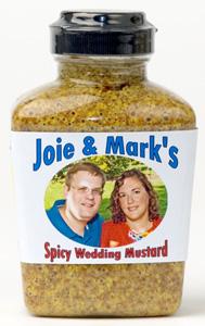 Personalized Mustard - Sweet Hot Stoneground - 12 Jars (plastic)