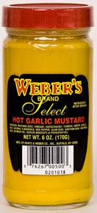 Weber's Hot Garlic Mustard
