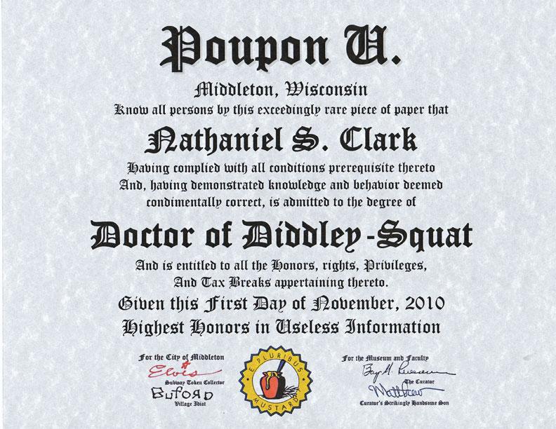 Poupon U Diplomas