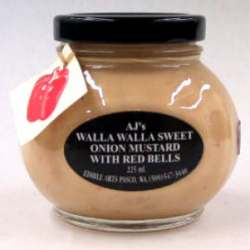 AJ's Walla Walla Onion Mustard With Red Bell Pepper