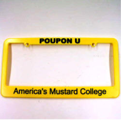 POUPON U License Plate Cover