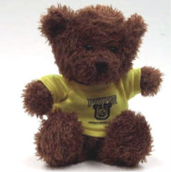 Poupon U Brown Bear W/ Yellow Shirt (10')